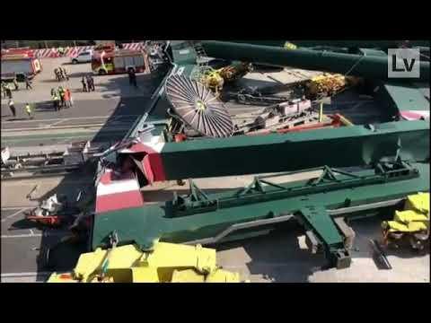 MSC MIA contacted gantry crane in Valencia Sep 13 2020